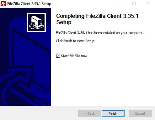 Instalación Filezilla