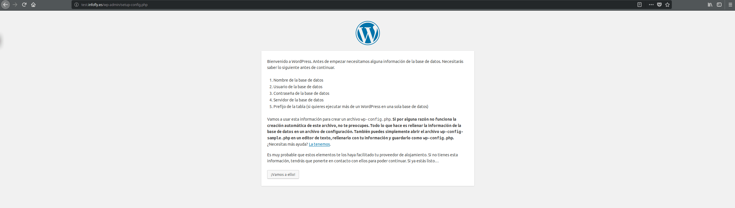 Instalacion WordPress