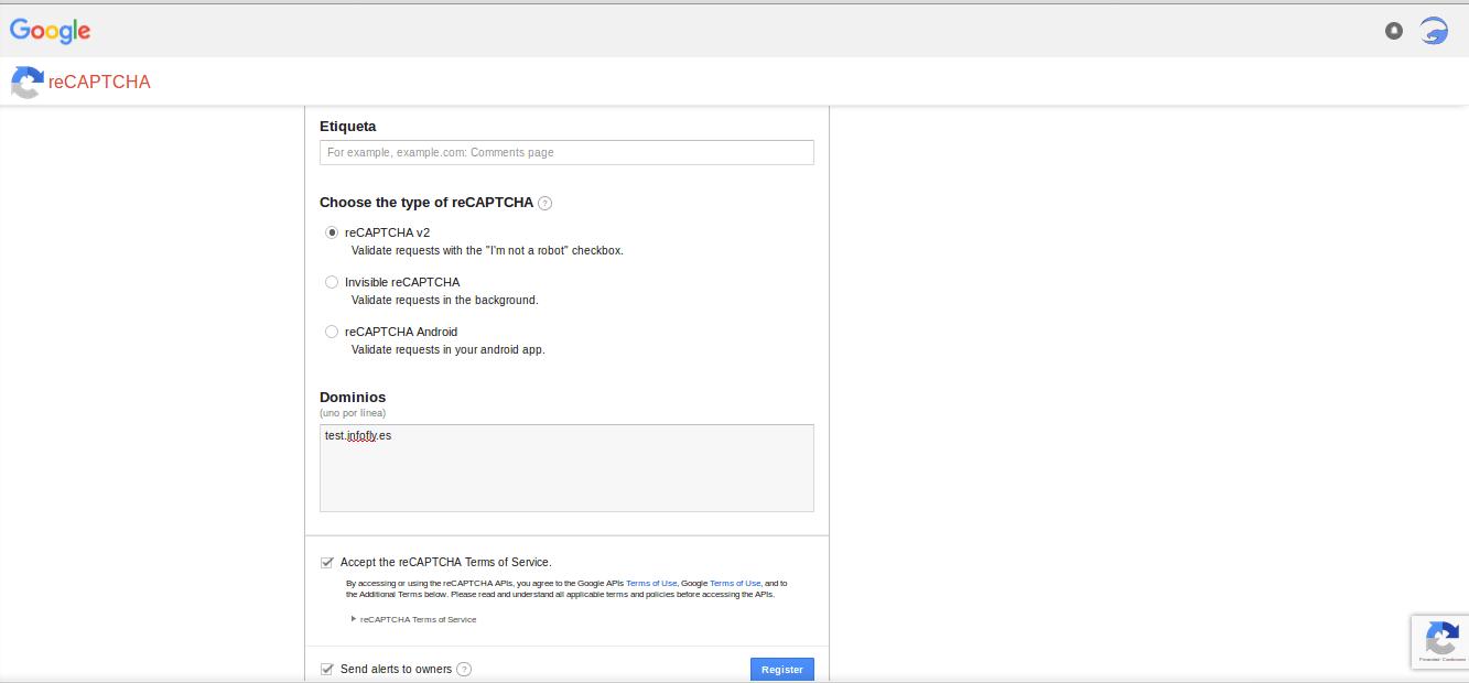 reCAPTCHA Google