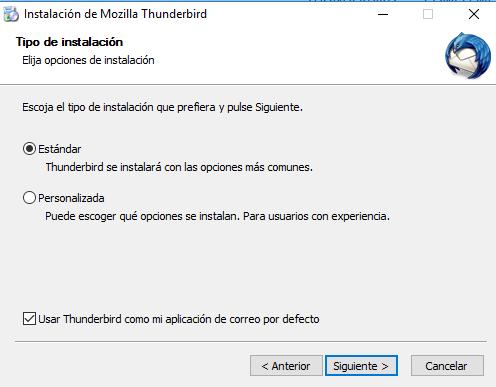 Imagen Instalación Thunderbird