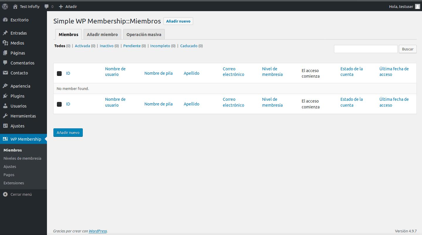 Simple Membership Plugin
