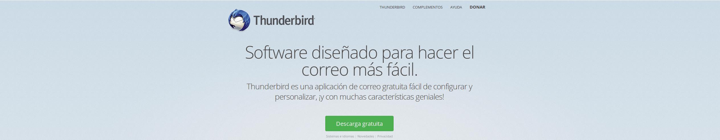 Fondo Thunderbird